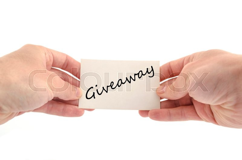 Stock image of 'Giveaway text concept isolated over white background'