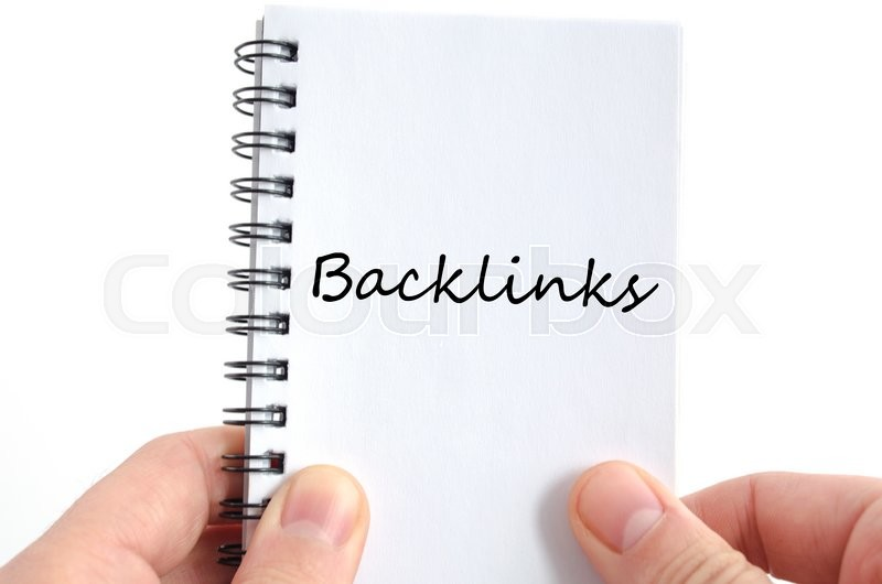 Stock image of 'Backlinks text concept isolated over white background'