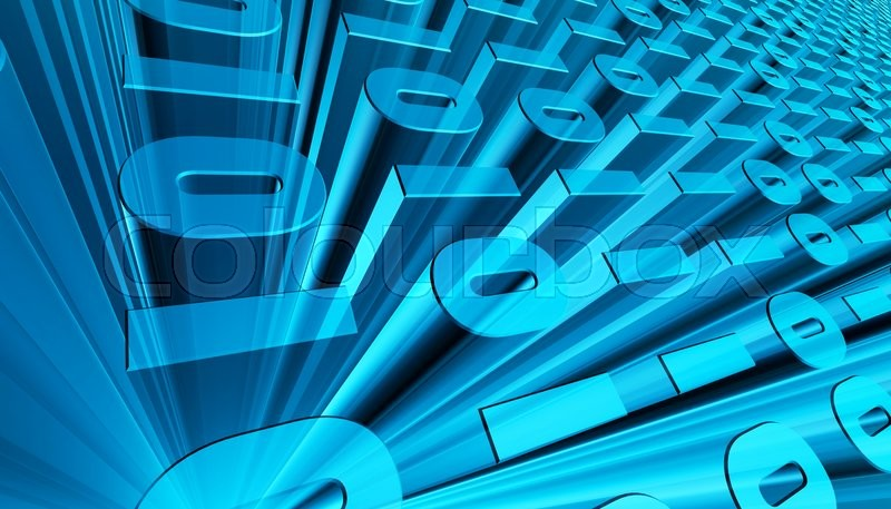 Stock image of '3D illustration of Binary digital code abstract background, digital concept.'