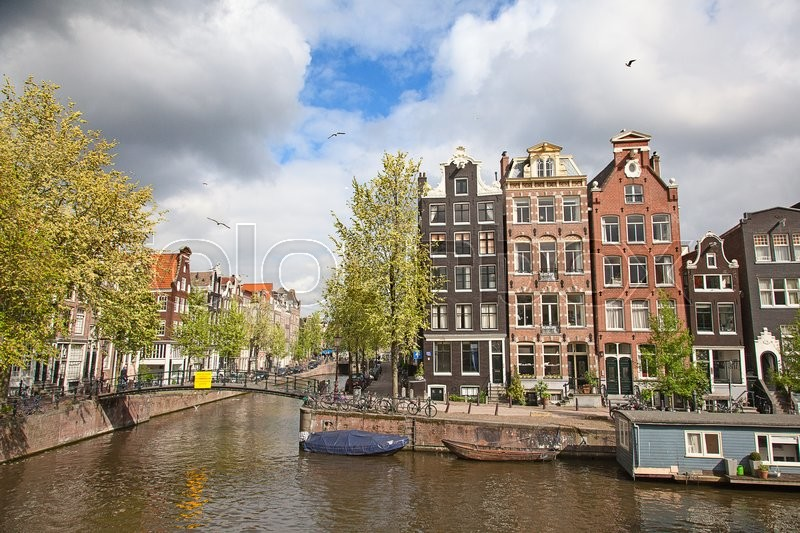 Stock image of 'Traditional houses of the Amsterdam, Netherlands'