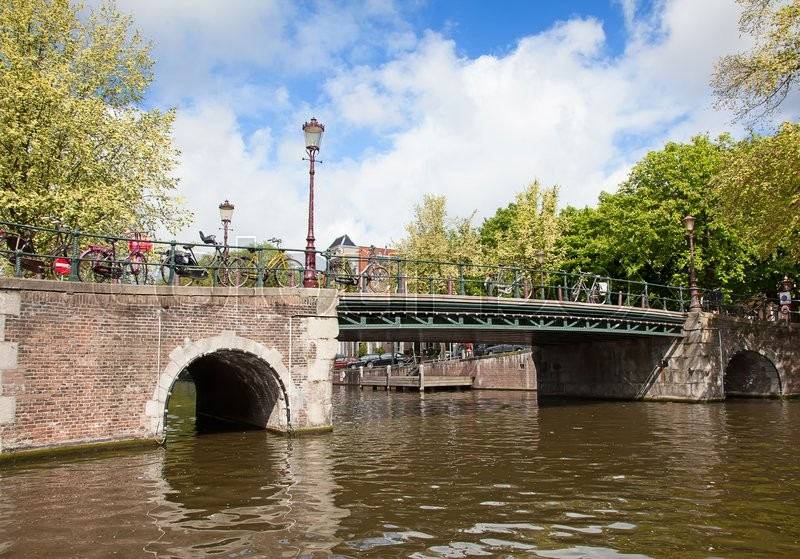 Stock image of 'Traditional canals and bridges of the Amsterdam, Netherlands'