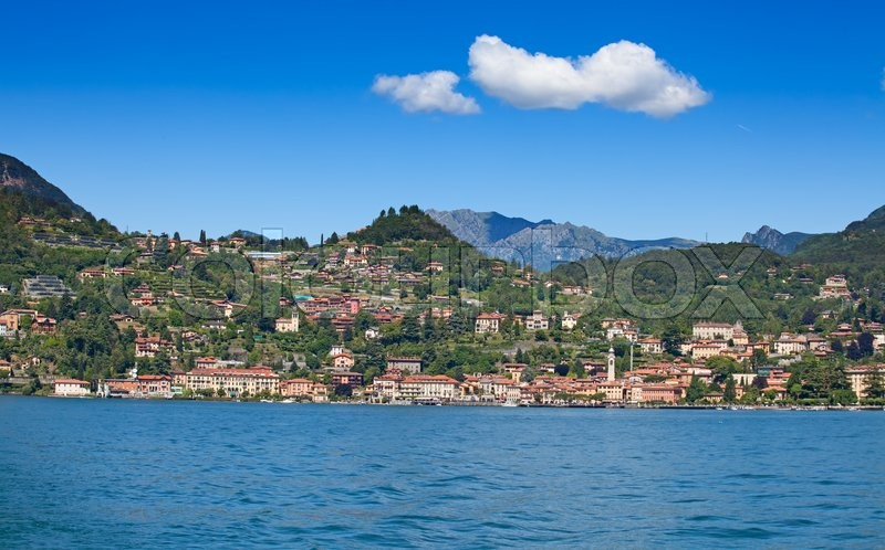 Stock image of 'Panoramic view of Cernobbio town (Como lake, Italy)'