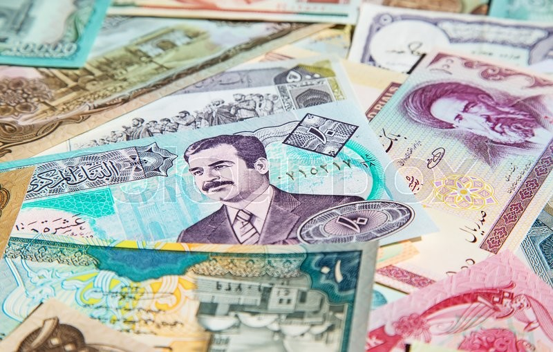 Stock image of 'Variety of Middle East banknotes'