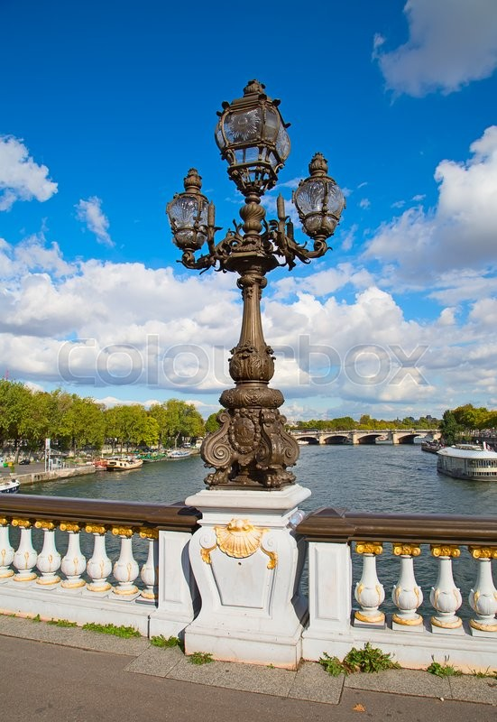 Stock image of 'Bridge of Alexandre III in Paris, France '