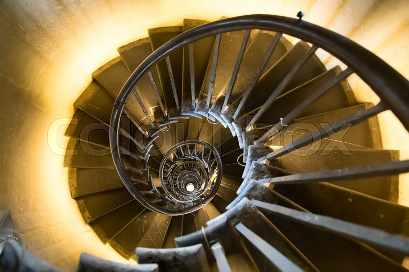 Stock image of 'Spiral staircase in the monument'