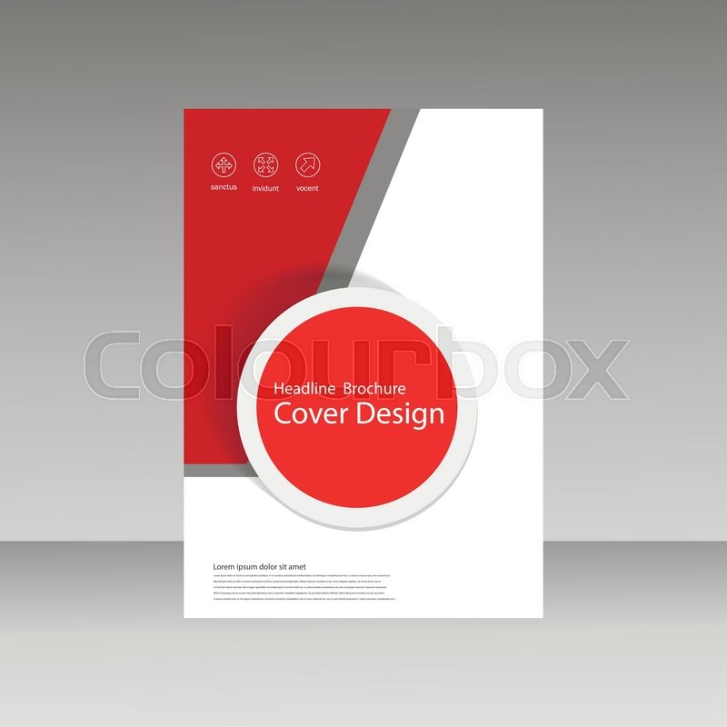 Abstract Brochure Design Template Flyer Design Book Print Design