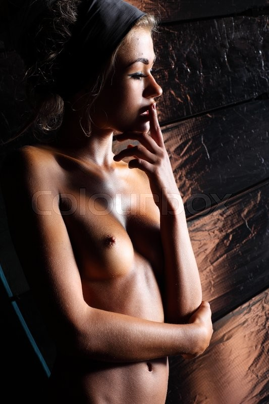 Stock image of 'Sexual naked girl with sexual body studio shot '