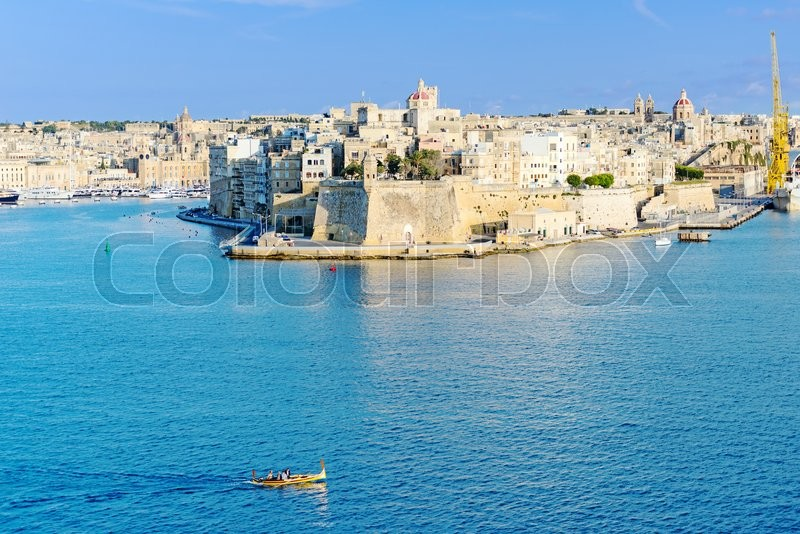 Stock image of 'Valletta skyline with the St. Pauls Cathedral'