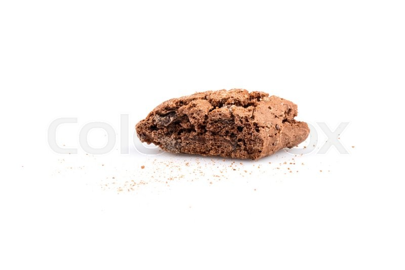 Stock image of 'Cantucci with chocolate pieces isolated on white background'