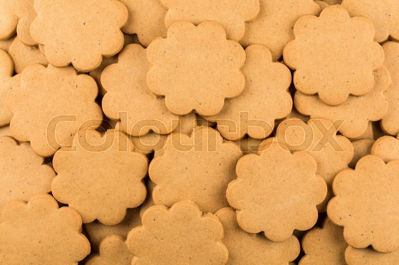 Stock image of 'Gingerbread star cookies as a background. Christmas decoration.'