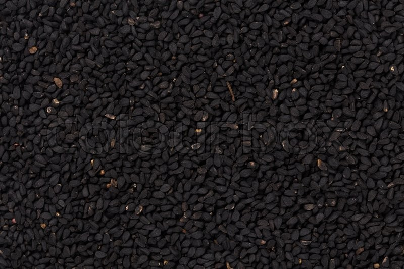 Stock image of 'Sesame black seeds close up for background'
