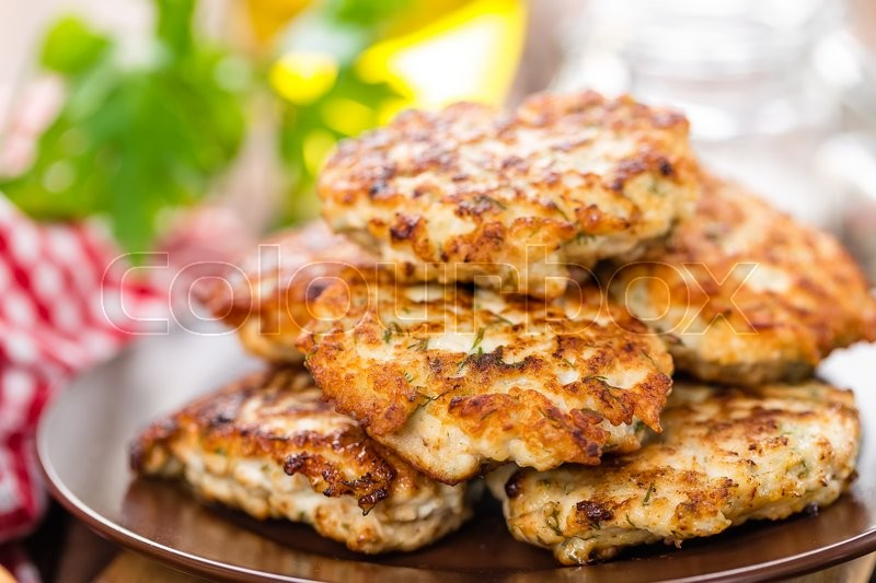 Stock image of 'Fried meat cutlets'