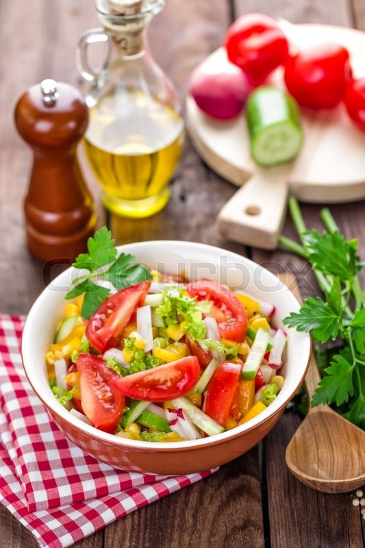 Stock image of 'Vegetable salad'