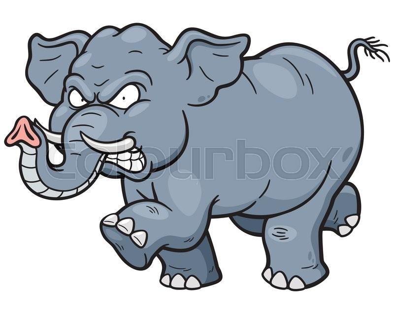 vector illustration of cartoon angry elephant stock vector colourbox