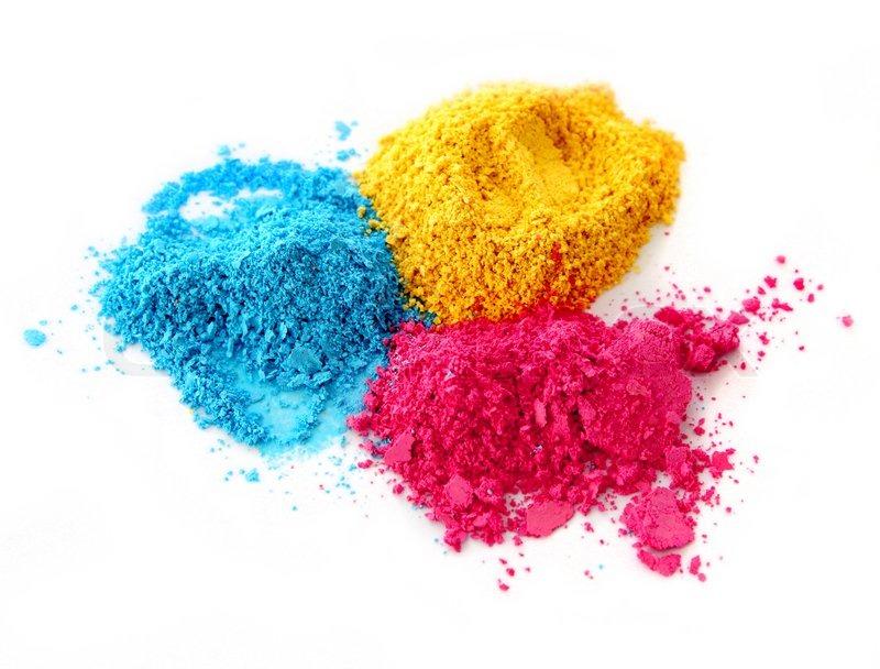 Color Chalk Powder Cyan Magenta Yellow Stock Photo Colourbox