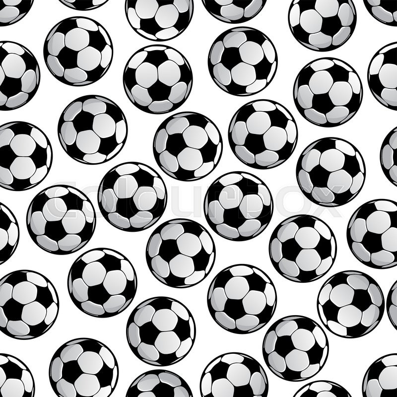 Soccer ball pattern background