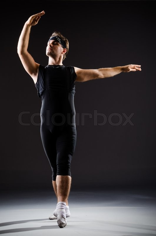 Stock image of 'Young man training for ballet dances'