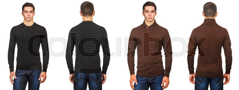 Stock image of 'Young man in fashion concept isolated on white'