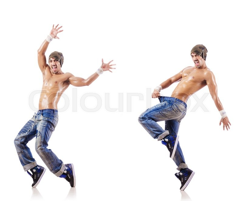 Stock image of 'Dancer dancing dances isolated on white'