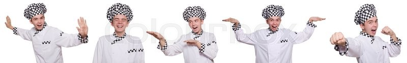 Stock image of 'Set of photos with funny cook'