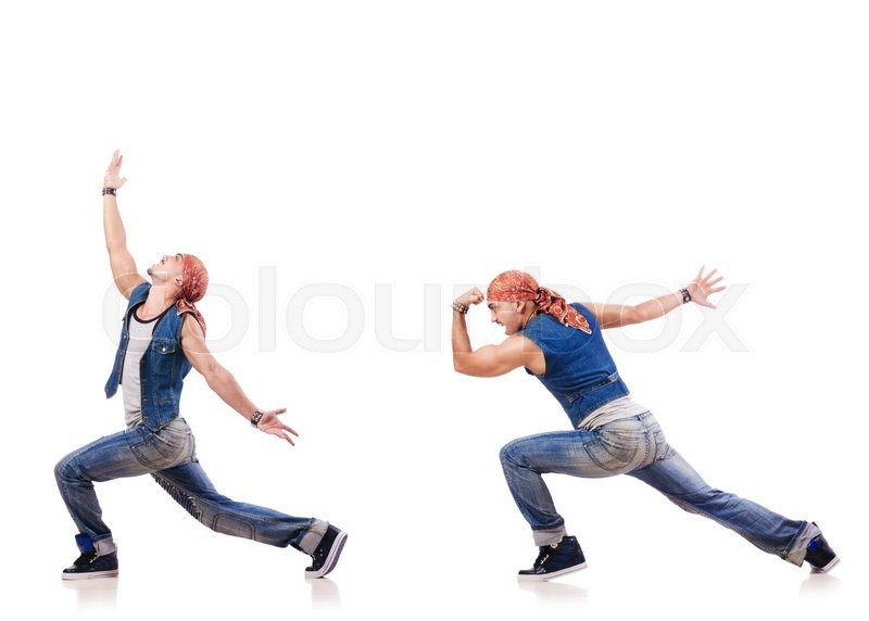 Stock image of 'Dancer dancing on the white'