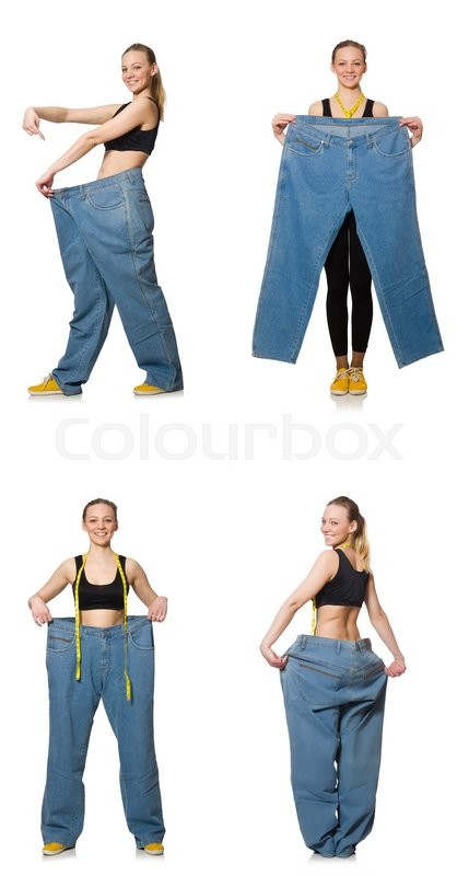 Stock image of 'Composite photo of woman in dieting concept'