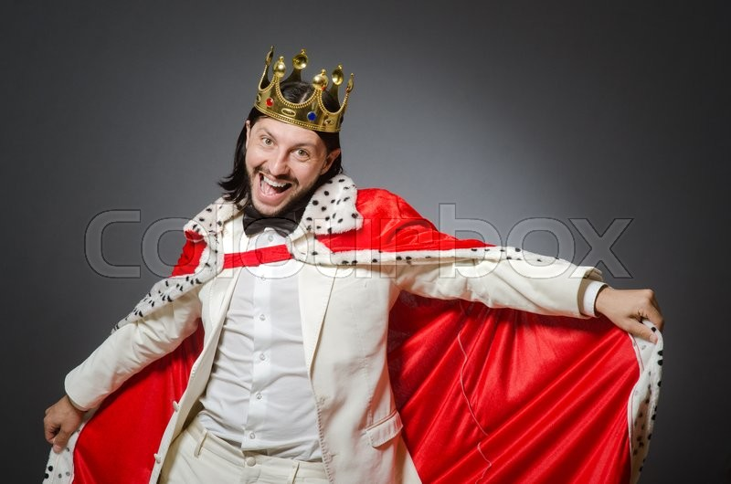 Stock image of 'King businessman in royal business concept'