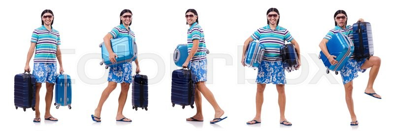 Stock image of 'Man preparing for this summer vacation'