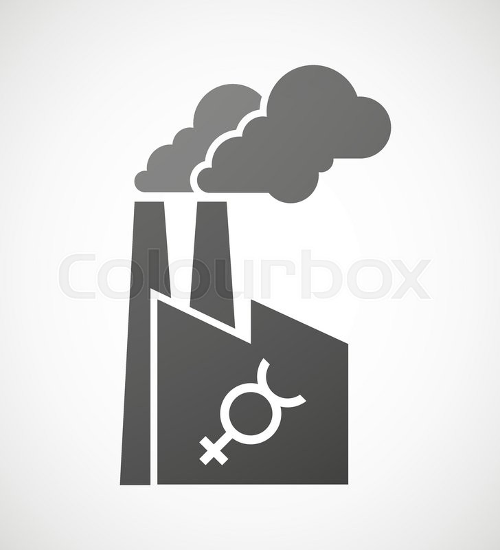 Illustration Of An Isolated Industrial Factory Icon With The Mercury