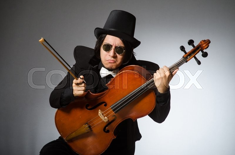 Stock image of 'Man in musical art concept'