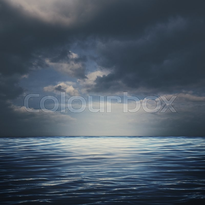 Stock image of 'Sea surface under stormy skies, abstract natural backgrounds'