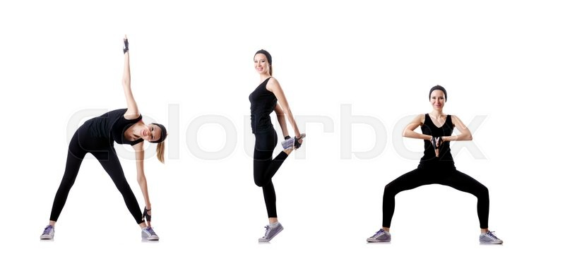 Stock image of 'Concept of healthy lifestyle in set'