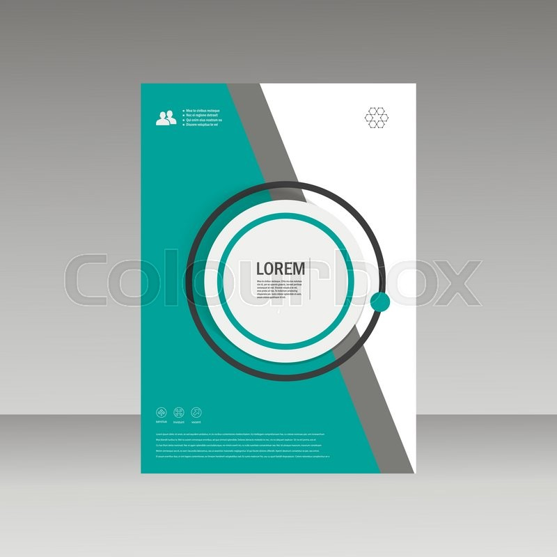 Vector Leaflet Brochure Flyer Template A4 Size Design, Annual Report, Book  Cover Layout Design, Abstract Cover Design. | Stock Vector | Colourbox  Annual Report Template Design