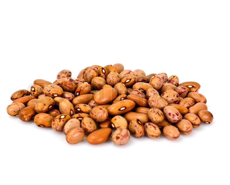 Stock image of 'Dried Beans on White Background Studio Photo'