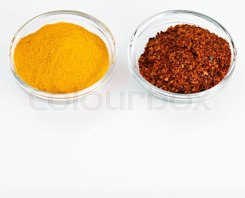 Stock image of 'Red Chili Pepper, Ditter Red Pepper, Indian Saffon Studio Photo'