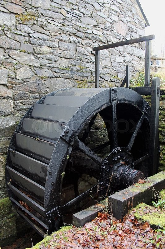 Editorial image of 'The old mill wheel St Fagans Museum of Welsh Life near Cardiff.'