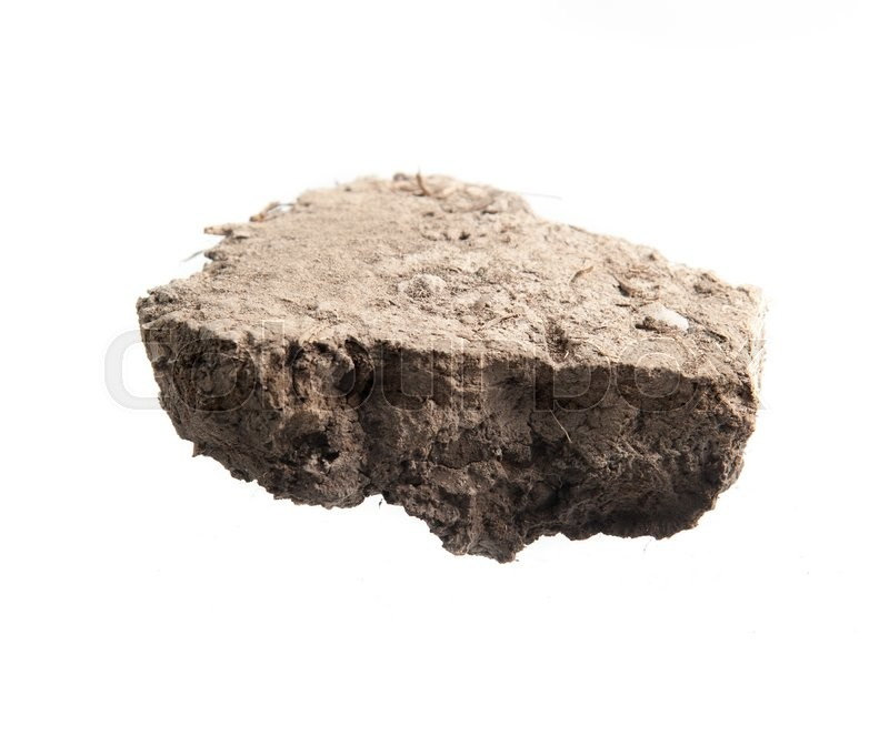 Stock image of 'Pile soil isolated on white background'
