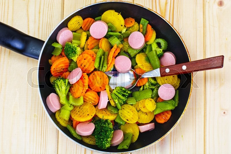 Steamed Vegetables Potatoes Carrots Stock Image Colourbox