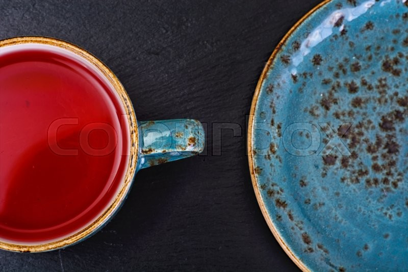Stock image of 'Red Tea in Beautiful Cup. Studio Photo'