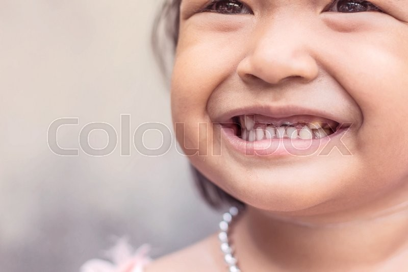Stock image of 'Girl with a friendly smile'