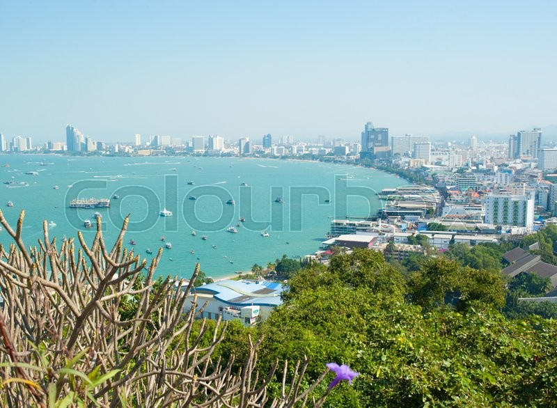 Stock image of 'View of Pattaya, Thailand'