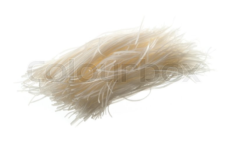 Stock image of 'Died rice noodles on white background'