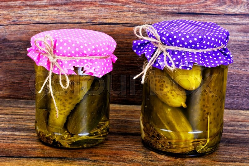 Stock image of 'Bank of Pickled Cucumbers Studio Photo'
