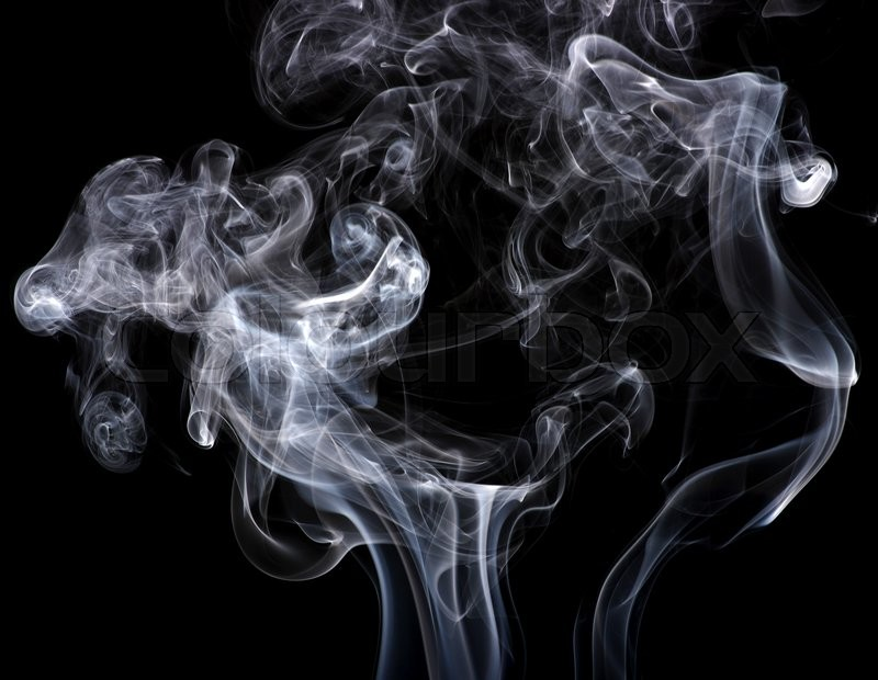 Stock image of 'Abstract smoke isolated on black '