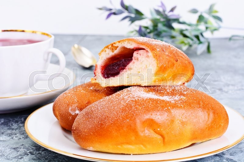 Stock image of 'Baked Cakes, Pies with Jam Studio Photo'