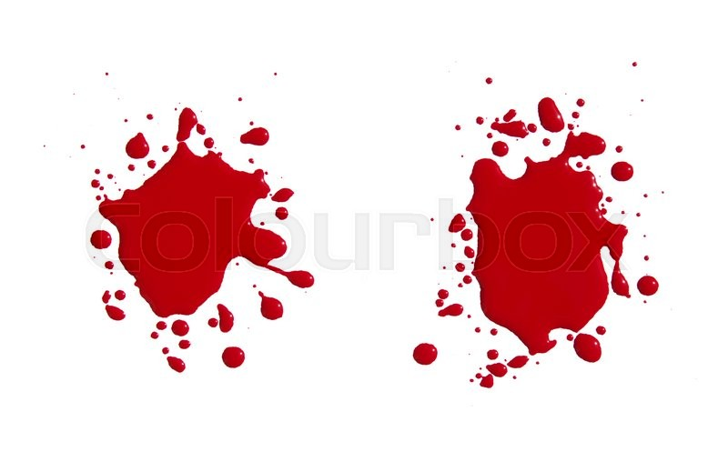 Stock image of ' splats splashes and blobs of brightly colored paint in different shapes drips isolated on white '