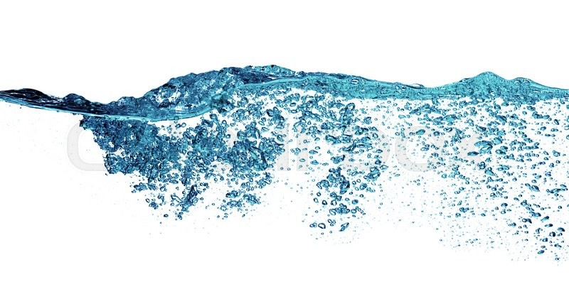 Stock image of 'Water splash isolated on the white '