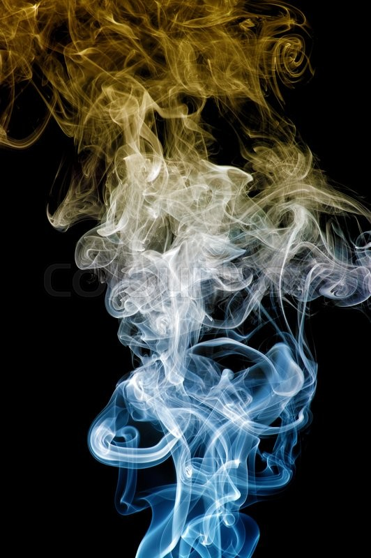 Stock image of 'colored smoke isolated on white background '