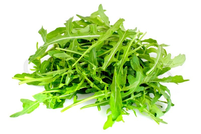 Stock image of 'Fresh Green Arugula. Studio Photo'