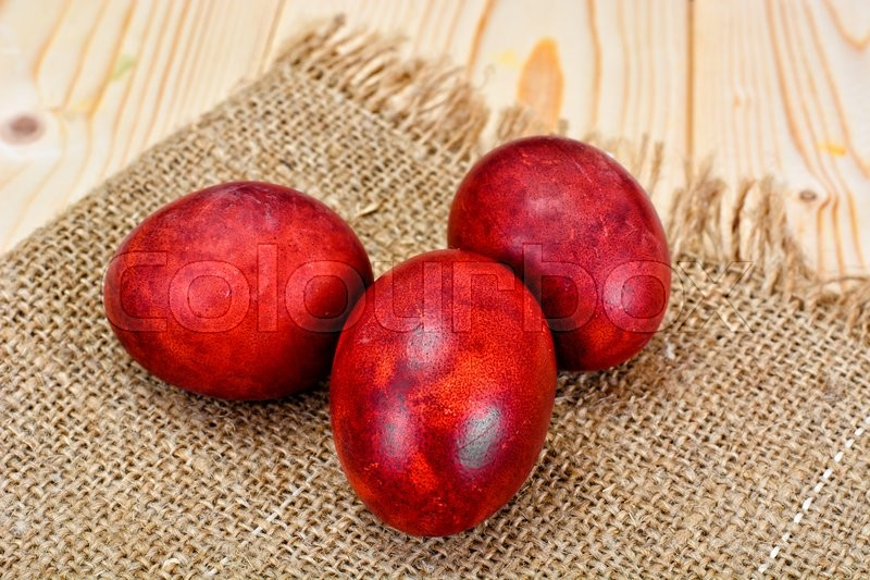 Stock image of 'Painted in Onion Skins Eggs for Easter Studio Photo'